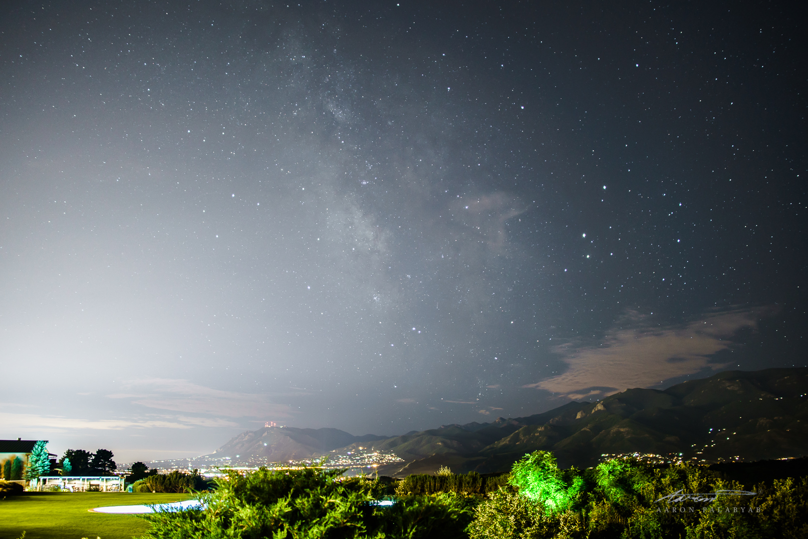 The Milky Way as seen from the Garden of the Gods Club and Resort
