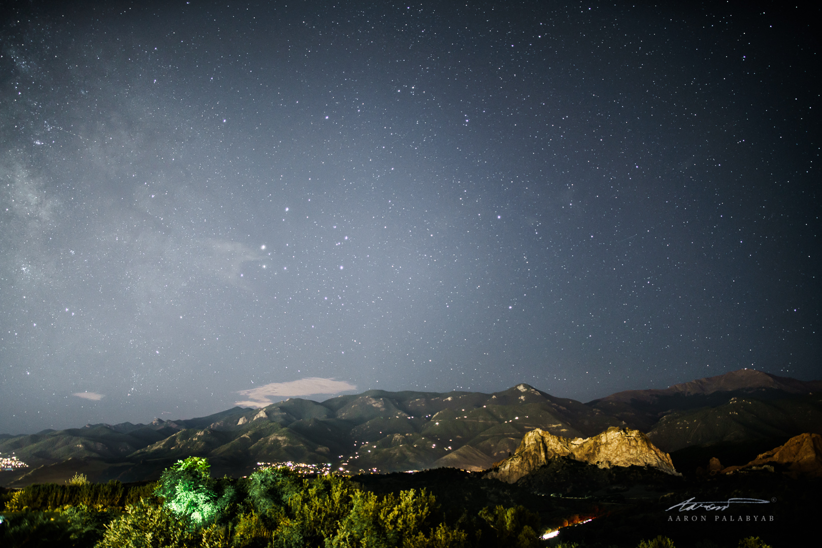 Stars of the Rocky Mountains, with the Milky Way just visible to the left.