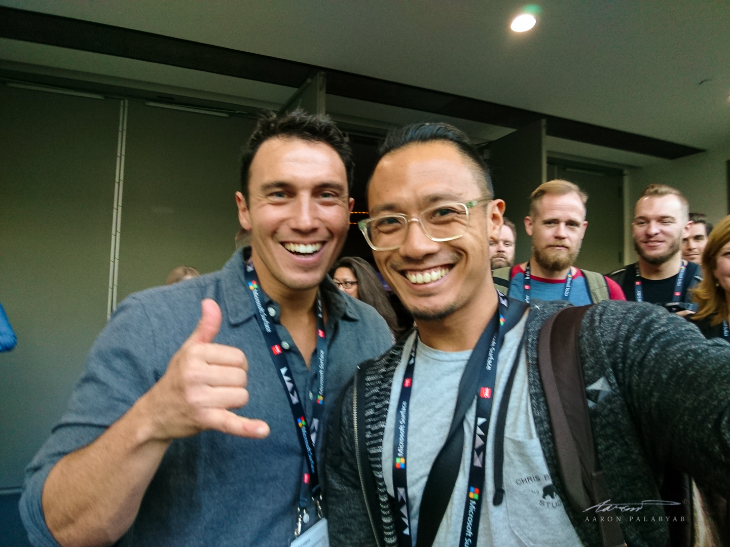 Post-session selfie with Chris Burkard at Adobe MAX 2016 (note the fanboy t-shirt)