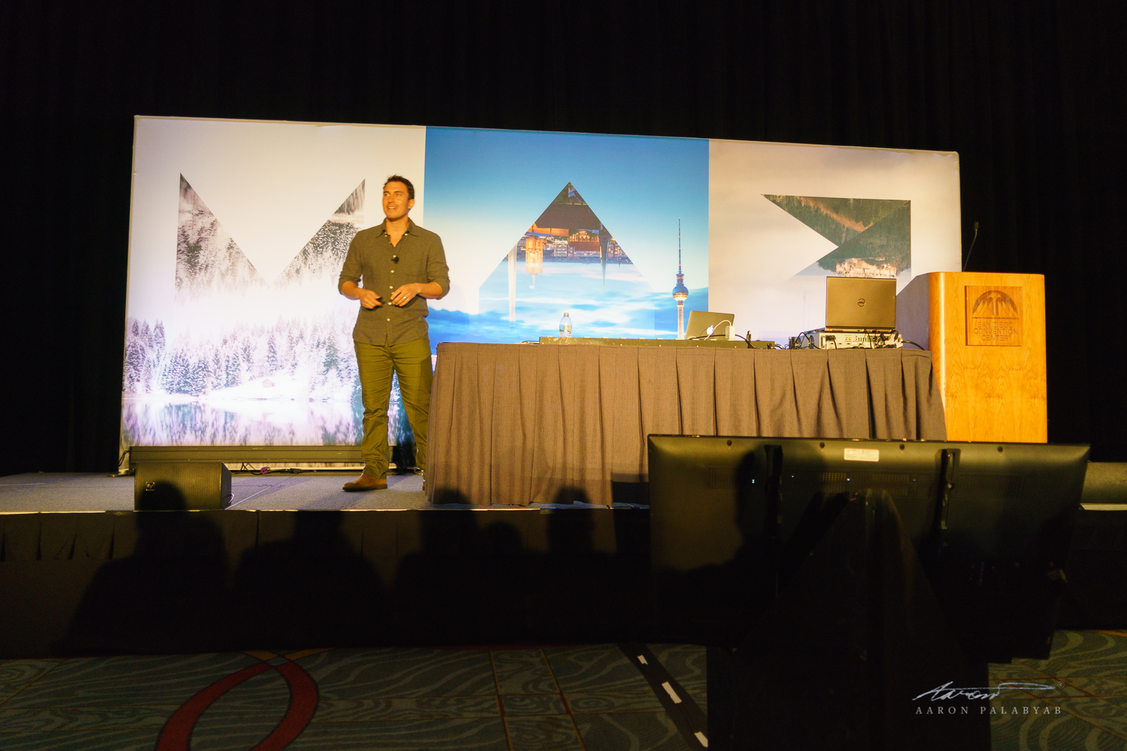 Chris Burkard at his session at Adobe MAX 2016