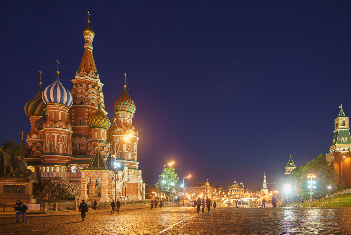 St. Basil's Cathedral by night