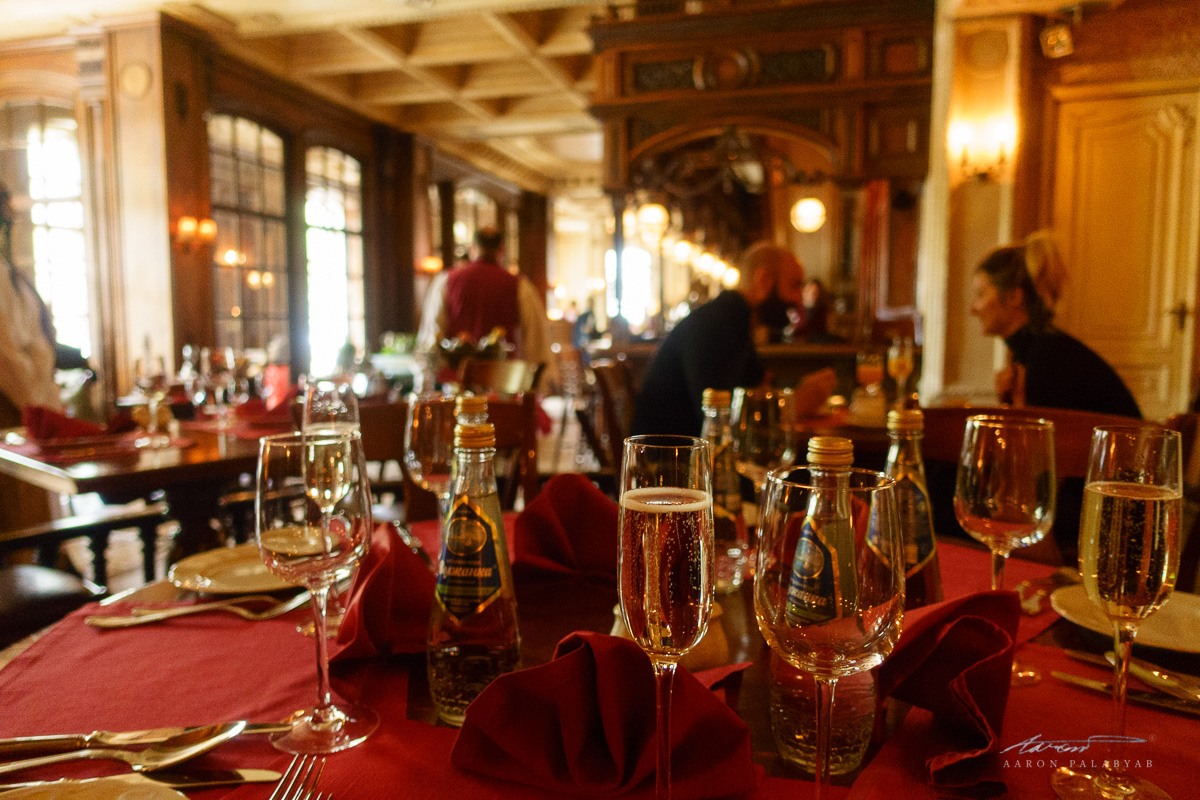 Lunch at Cafe Pushkin, the first of many luxurious meals included in the Grand Trans-Siberian Express itinerary