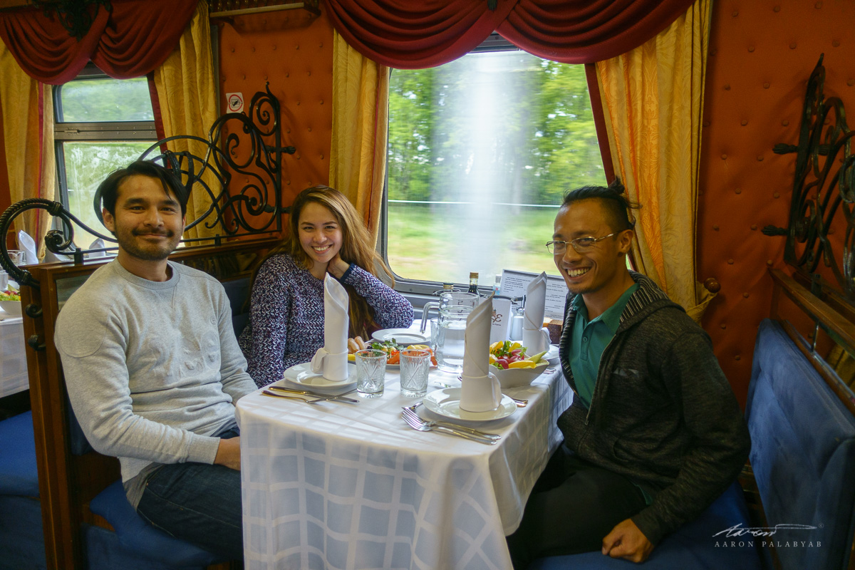All set for welcome dinner on the Grand Trans-Siberian Express