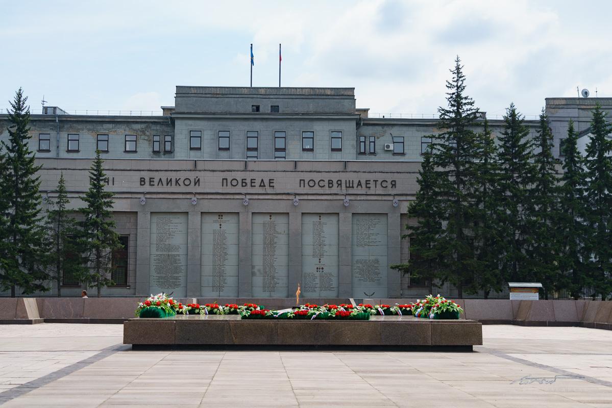 The Memorial Eternal Flame in Irkutsk