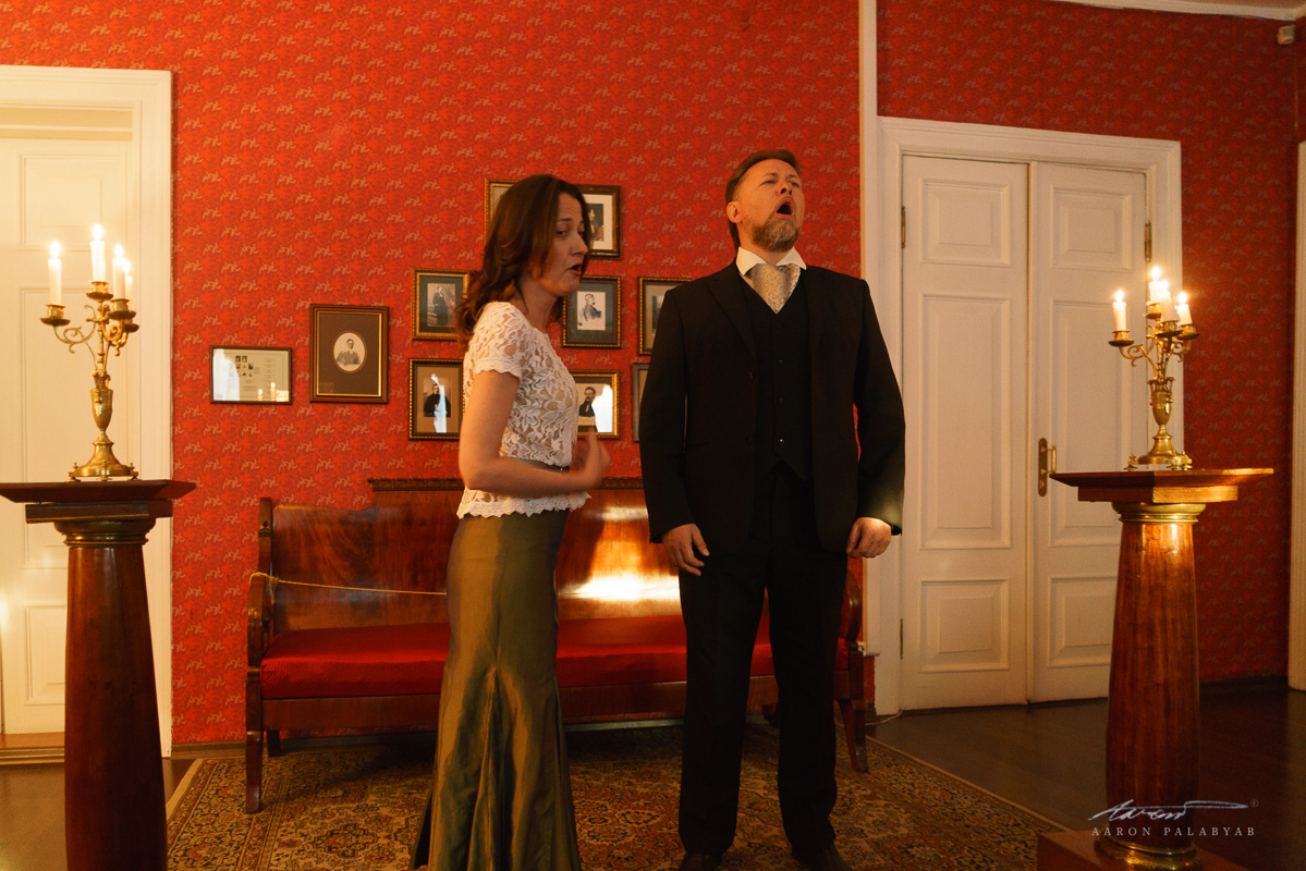 The tenor and soprano perform a duet