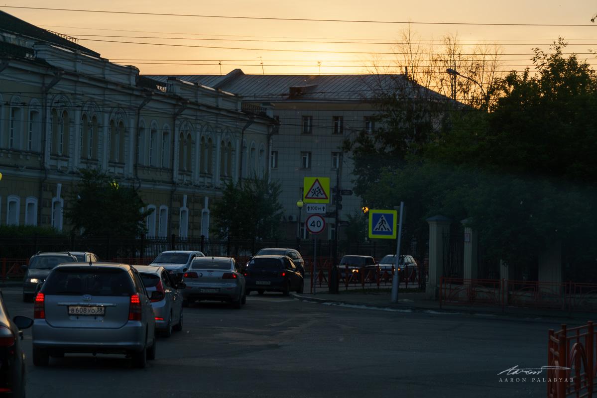 Irkutsk at sundown