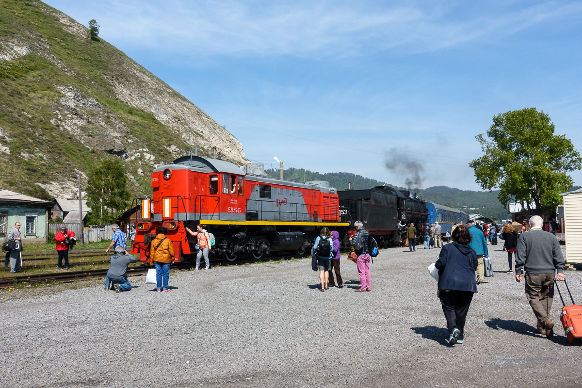 The Grand Trans-Siberian Express, fitted with a steam engine for its circum-Baikal journey