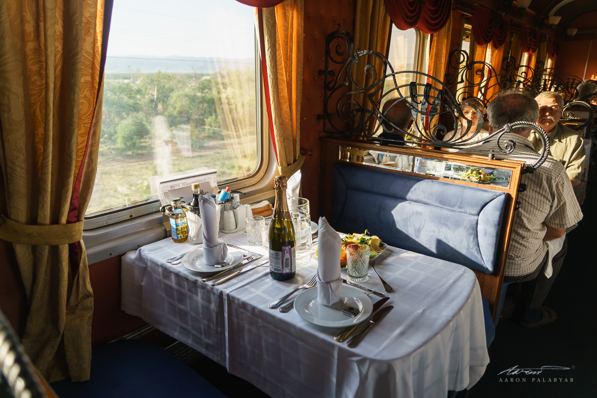 One last dinner aboard the Grand Trans-Siberian Express