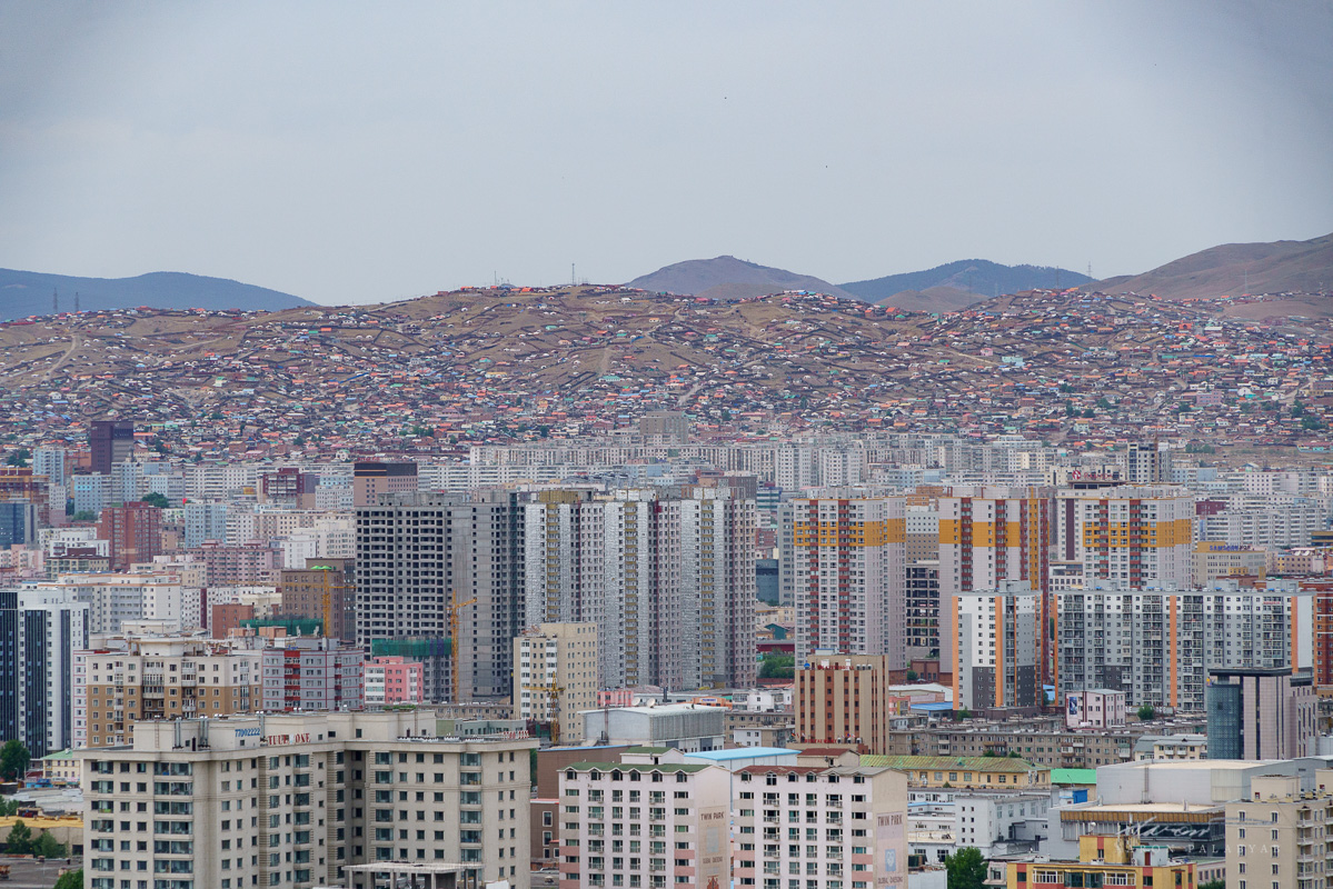 The density of Ulaanbaatar from above