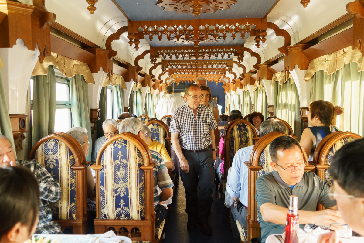 The lounge car on the Grand Trans-Siberian Express