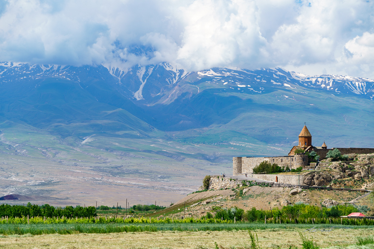 Khor Virap Monastery, with Mt. Ararat looming in the background