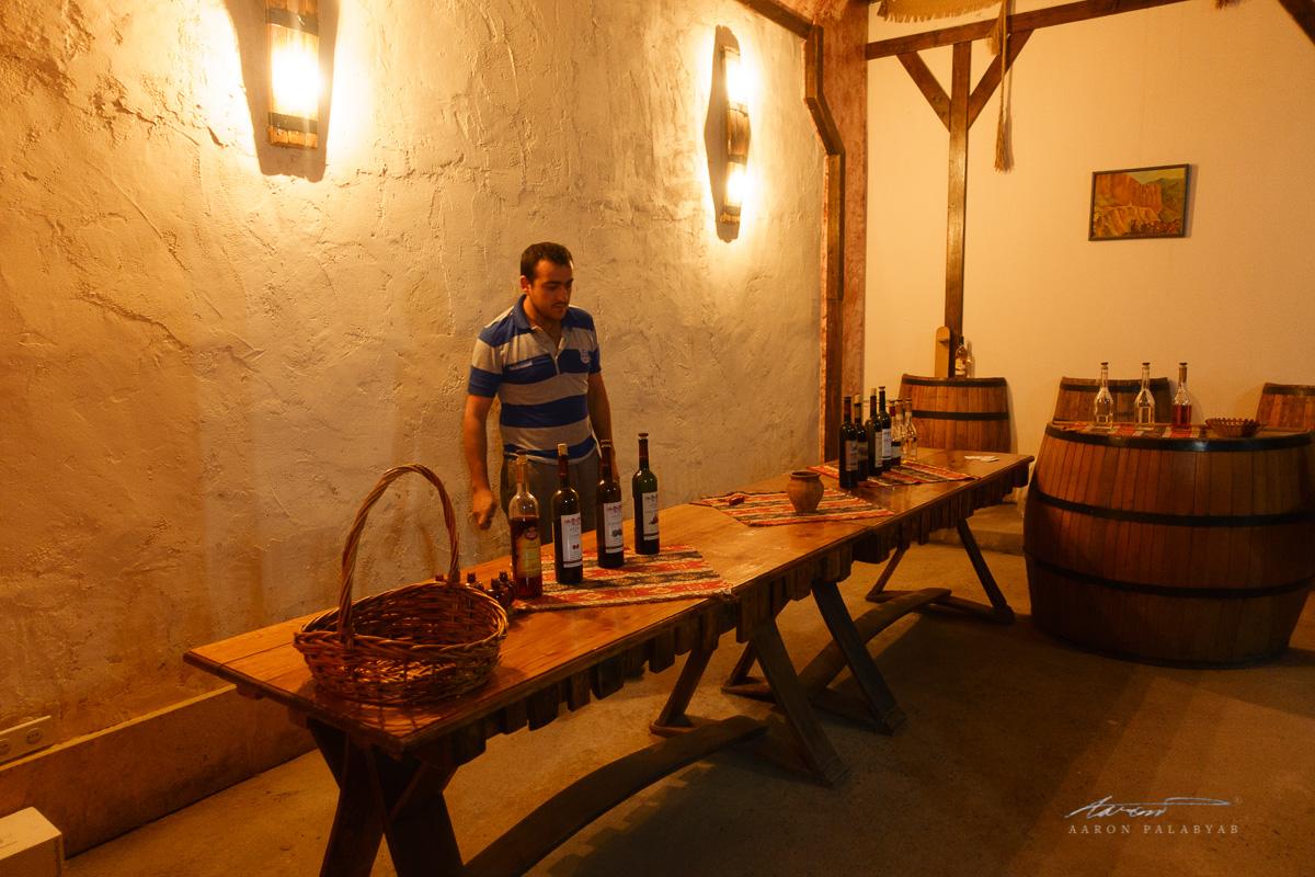 Wine tasting at Areni Wine
