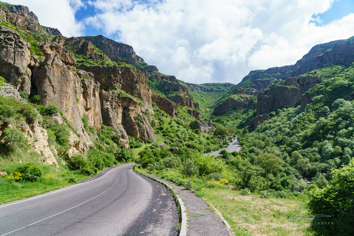 The view from the road leading to Geghard Monastery