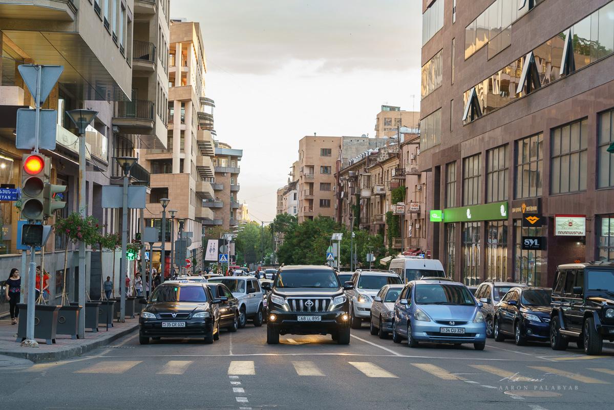 Evening rush in Yerevan