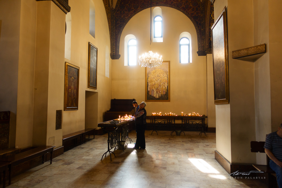 Inside Echimadzin Cathedral