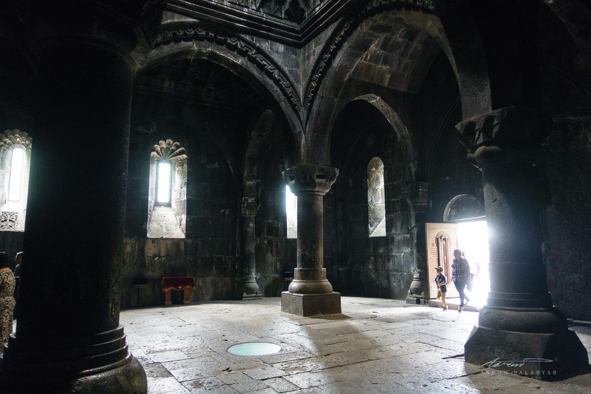 Inside Geghard Monastery