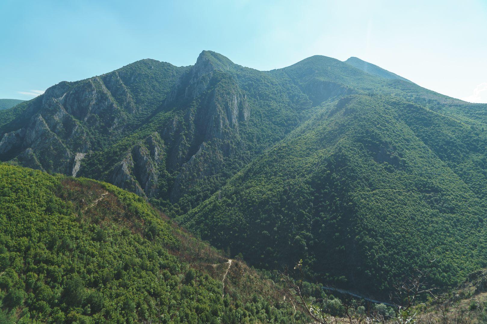 Stunning vistas hiking down to Canyon Matka in Macedonia (FYROM)