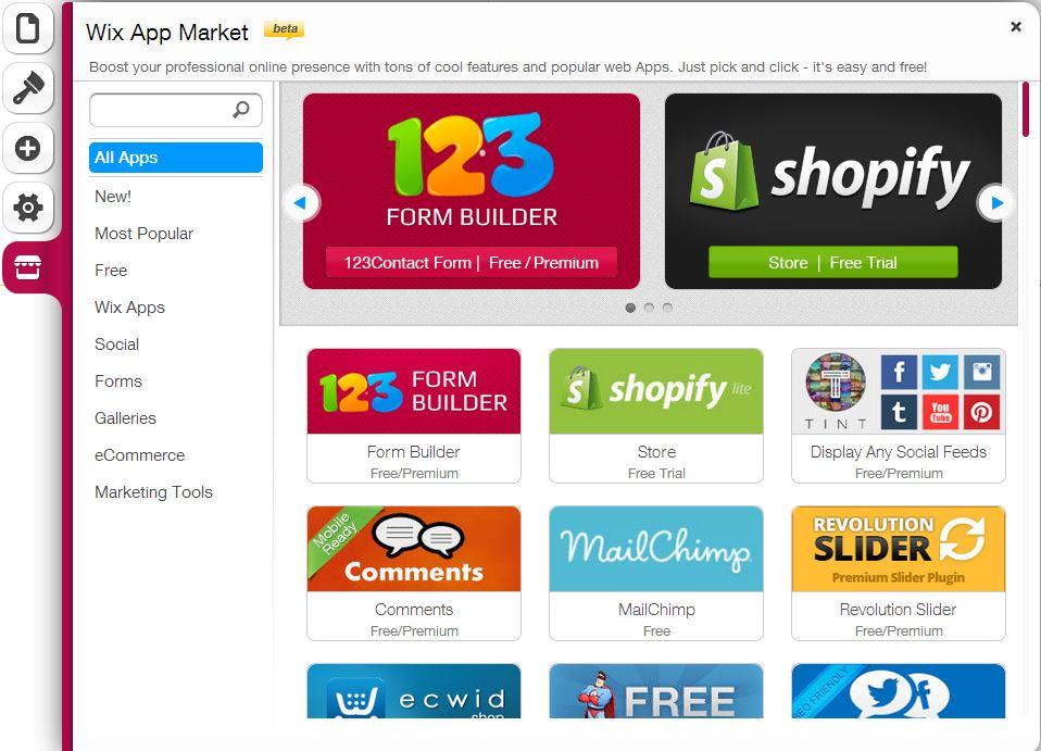 Wix App-market