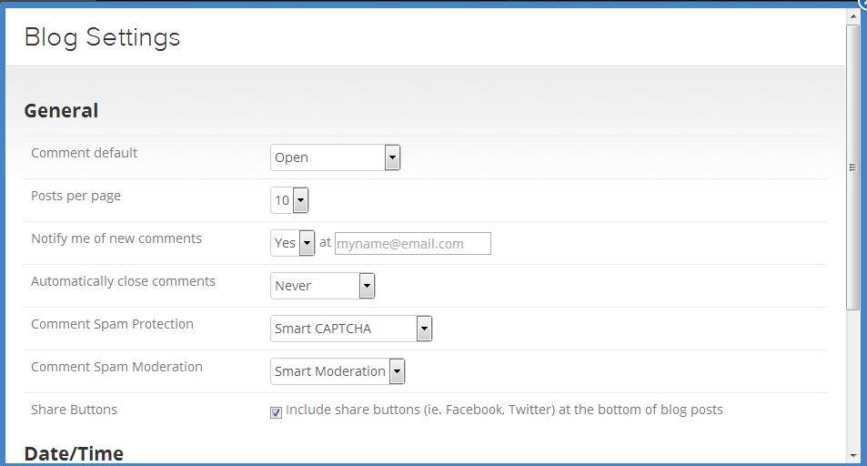 blog settings 2