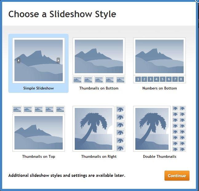 add Slideshow