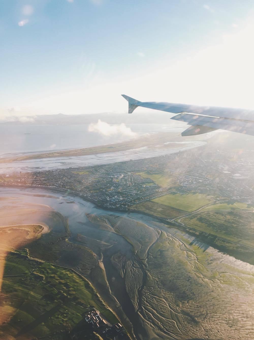 Anflug über Howth nach Dublin