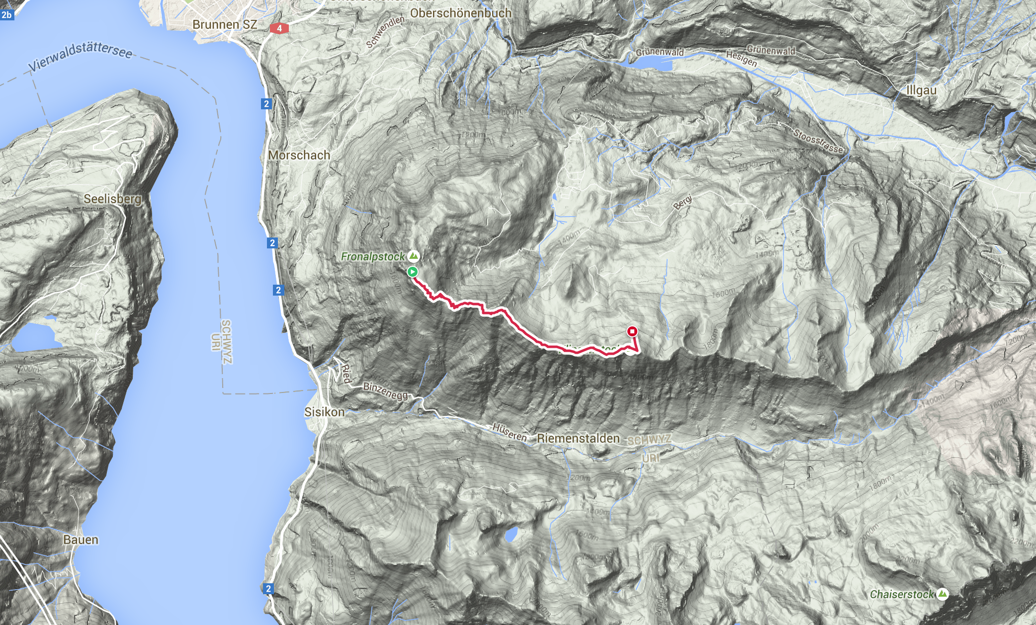 Route Fronalpstock - Klingenstock