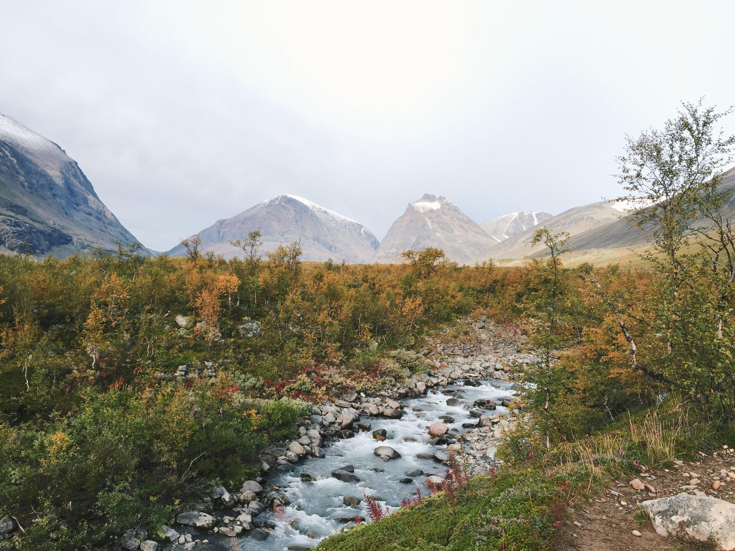 Blick zurück Richtung Kebnekaise Gebirge