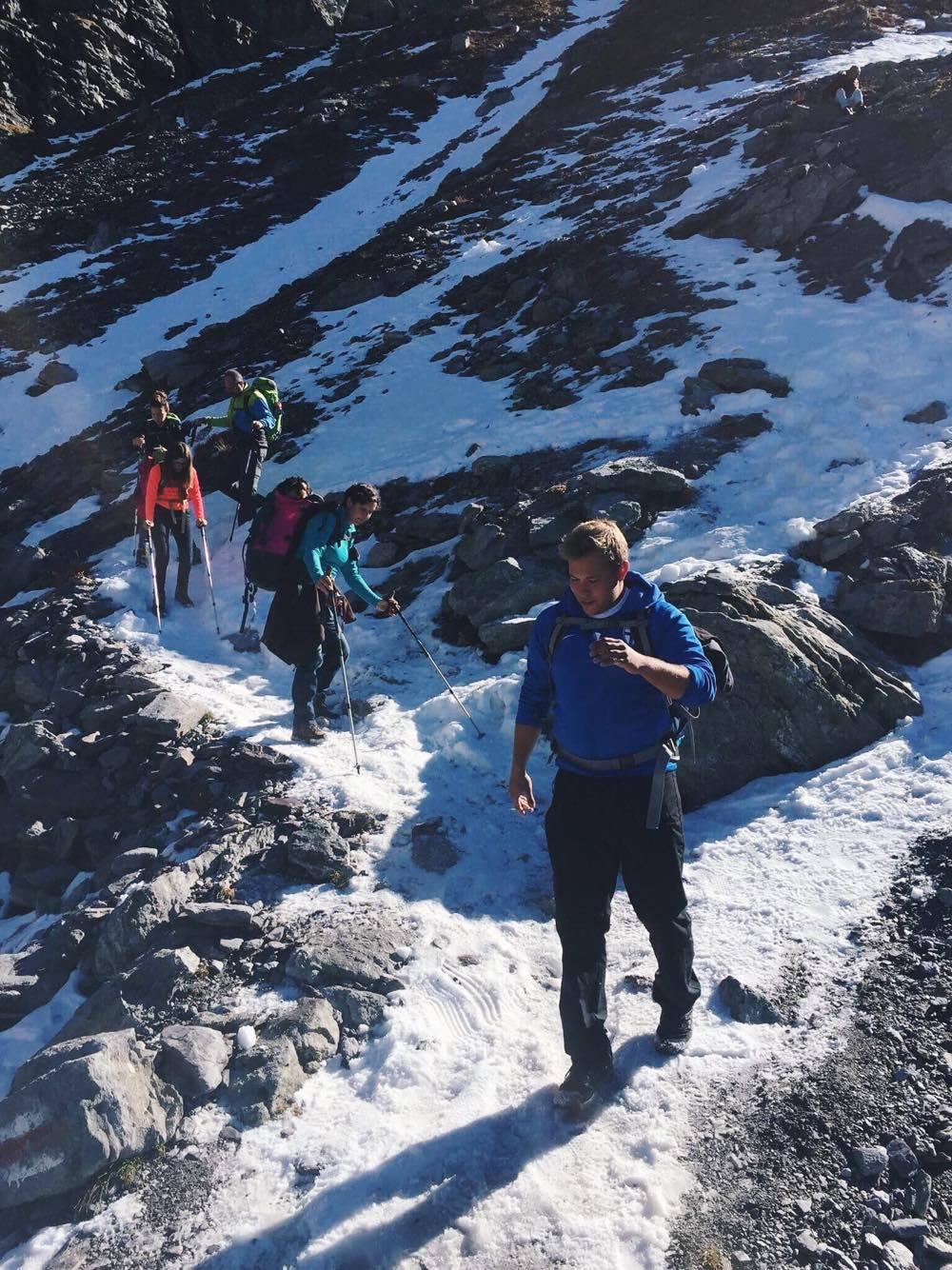 nicht alle fanden den Schnee toll - runter gehts zum Schottensee