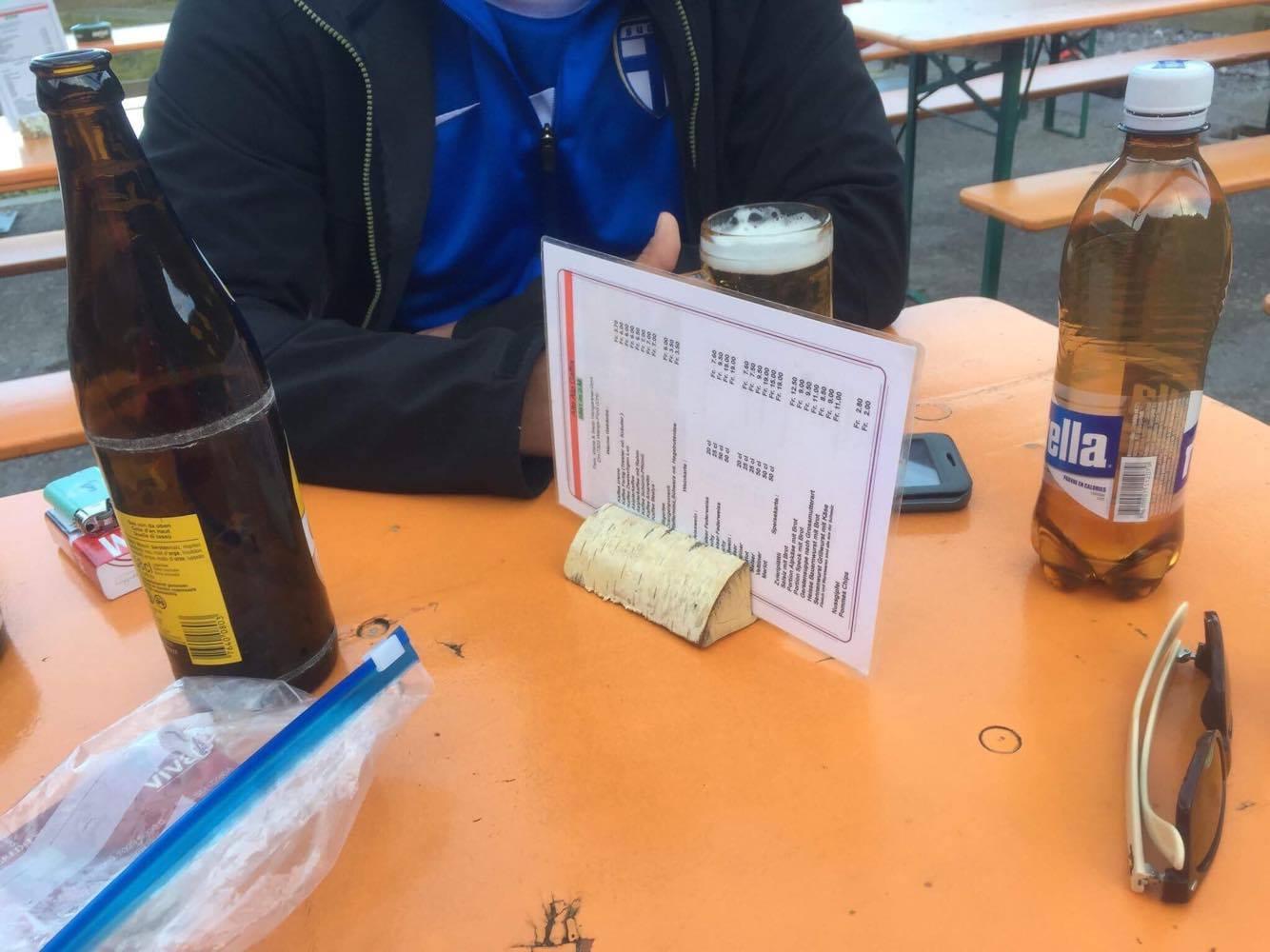 verdient: Bier und Rivella