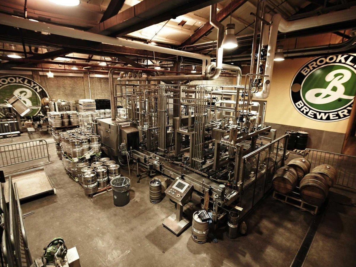 The brewery's kegging machine.The brewery's                         kegging machine.