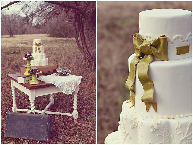 custom-wedding-cake-white-fondant-lace-eyelet-detail-gold-bow.jpg