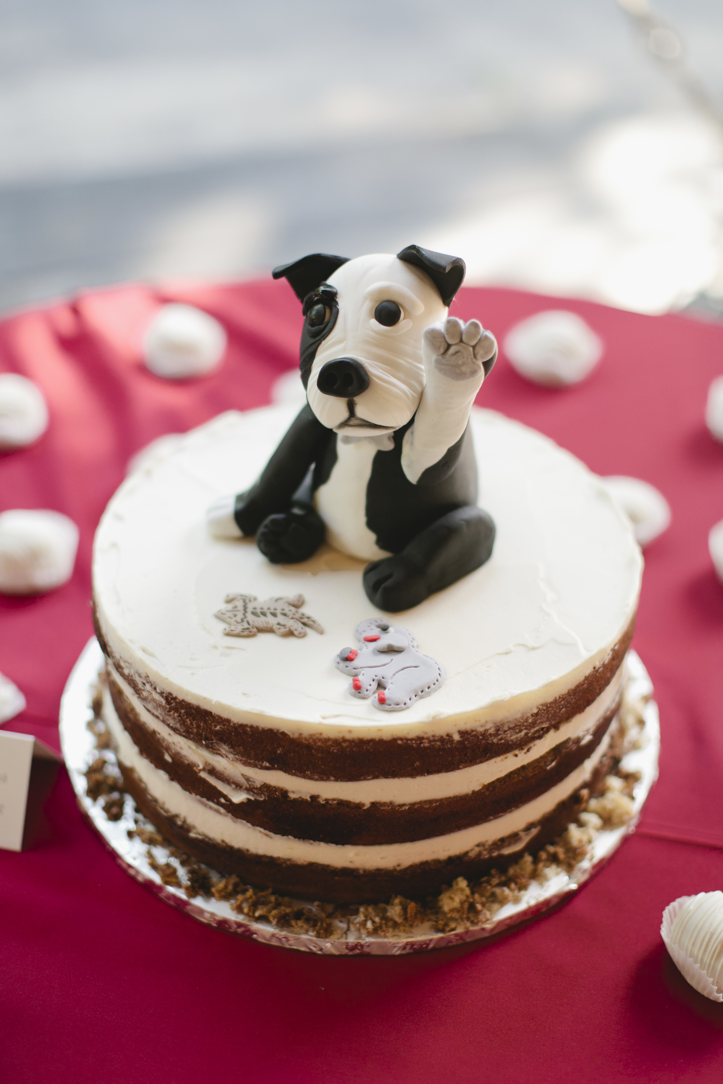 fondant_dog_grooms_cake_naked_cake.JPG