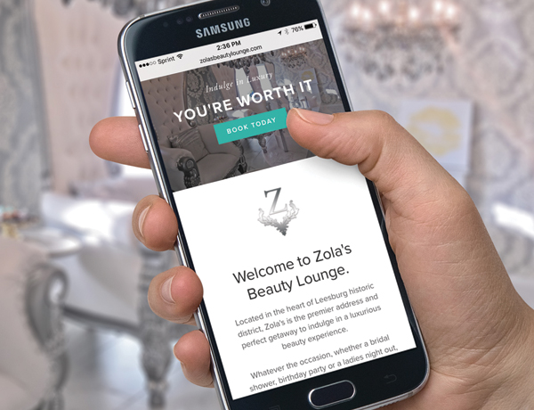 ZOLA'S BEAUTY LOUNGE WEB + BRANDING