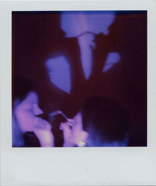 Her Lover's Shadow #4 , From  Her Lover's Shadow…Traces from the Snuff Box Archive of Desire , 2004. Four Photo-Snuff Box Objects composed of SX-70 Polaroid photographs, cigar boxes, velvet fabric, and Betty Page photo-buttons.
