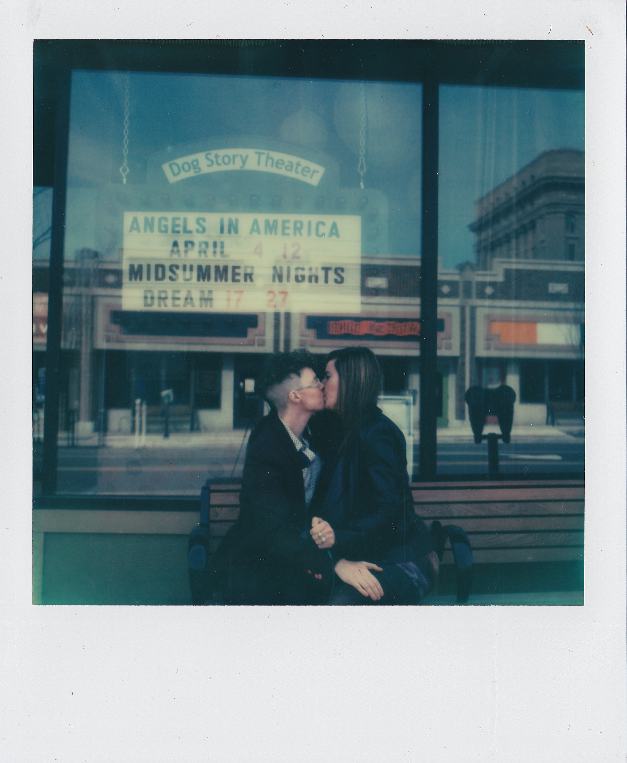 Dog Story Theater, Grand Rapids, Michigan , from  Kissing on Main Street,  2015, original SX-70 Polaroid.