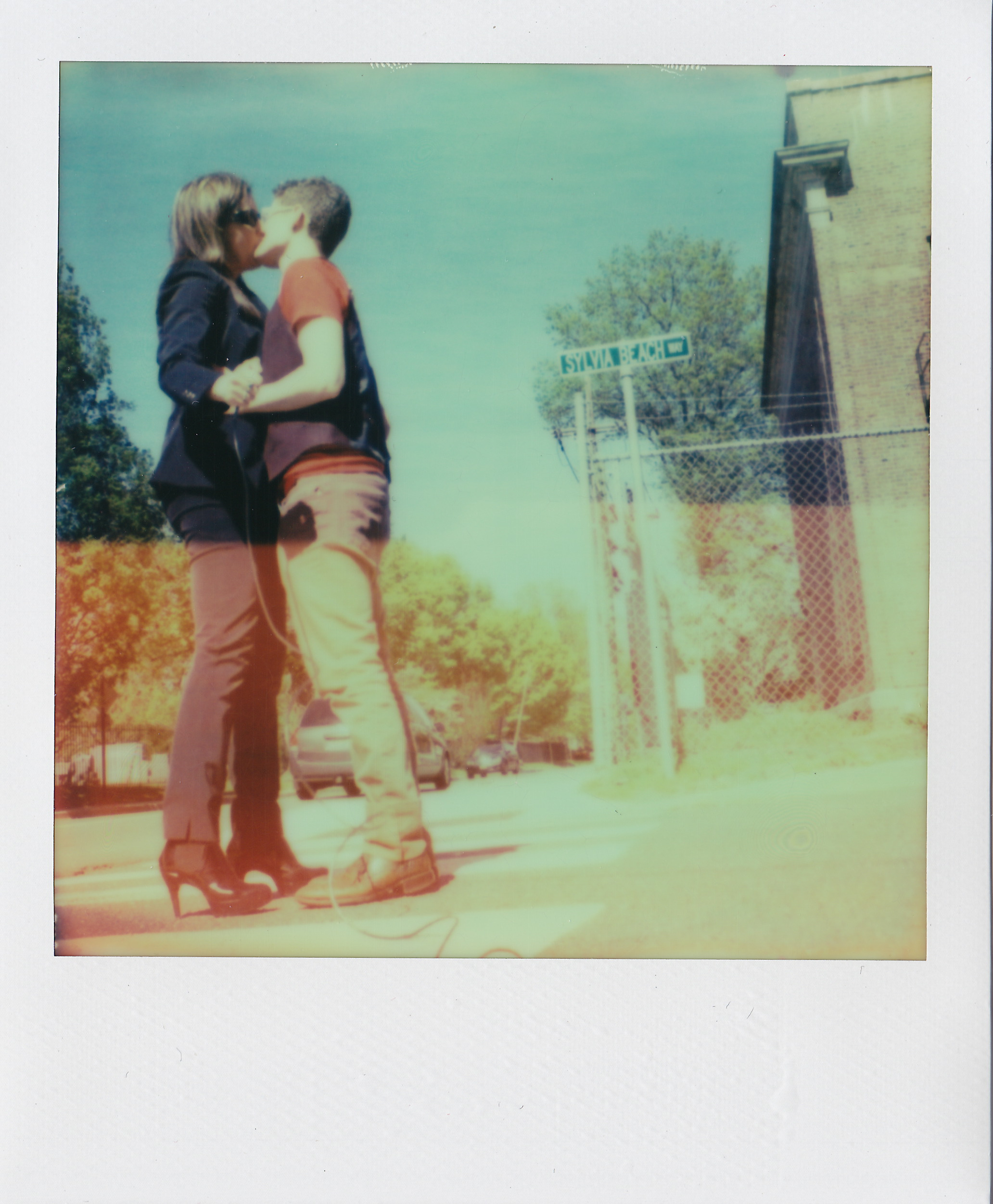 Sylvia Beach Way ,  Princeton New Jersey , from  Kissing on Main Street , 2015, original SX-70 Polaroid.