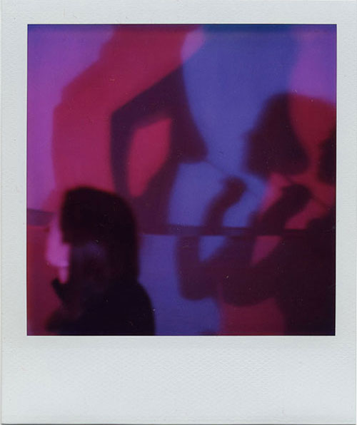Her Lover's Shadow #1 , From  Her Lover's Shadow…Traces from the Snuff Box Archive of Desire , 2004. Four Photo-Snuff Box Objects composed of SX-70 Polaroid photographs, cigar boxes, velvet fabric, and Betty Page photo-buttons.