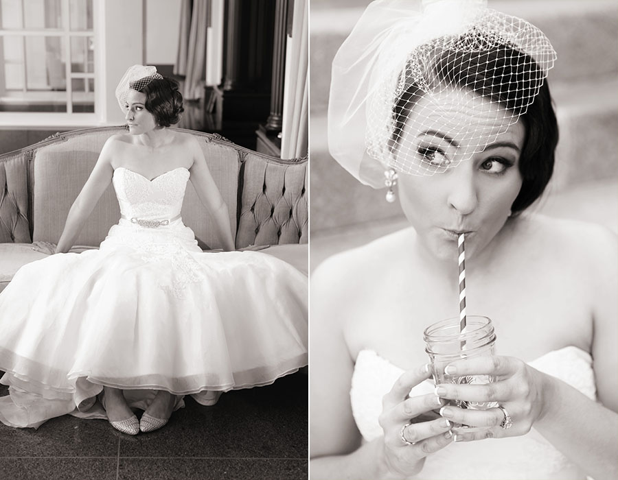 Isn't she adorable! I was drooling over her vintage set up and that veil!