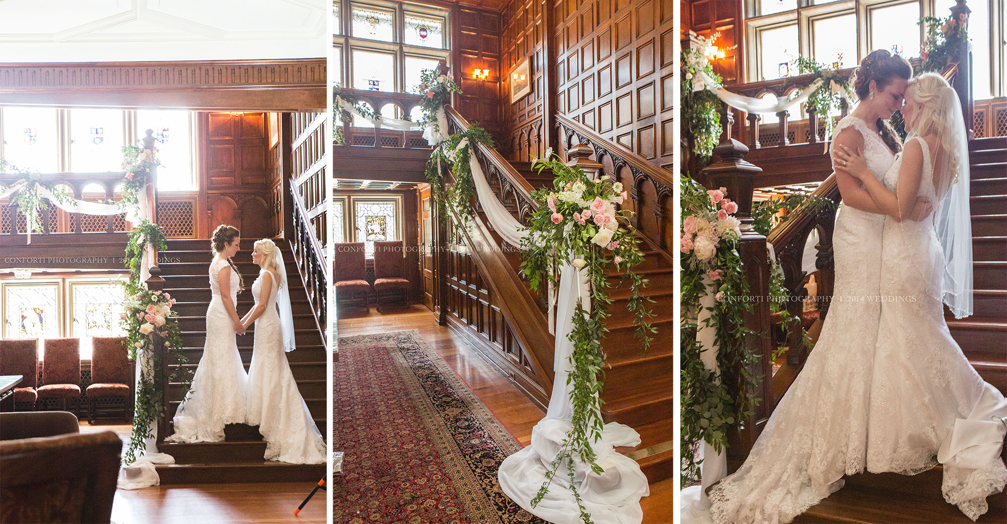 Their first look on the grand staircase brought us all to tears! So emotional and beautiful!