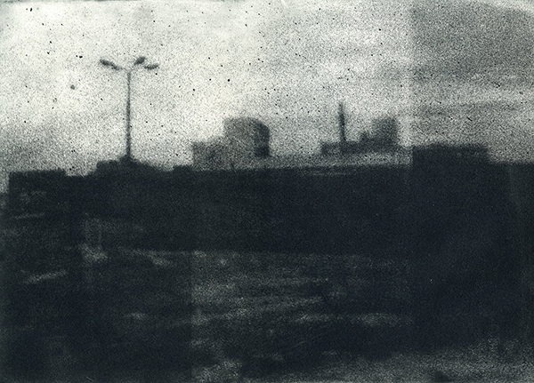 """Forest Park Parkway 2013 Photopolymer Intaglio Print on Pape 5"""" x 7"""""""
