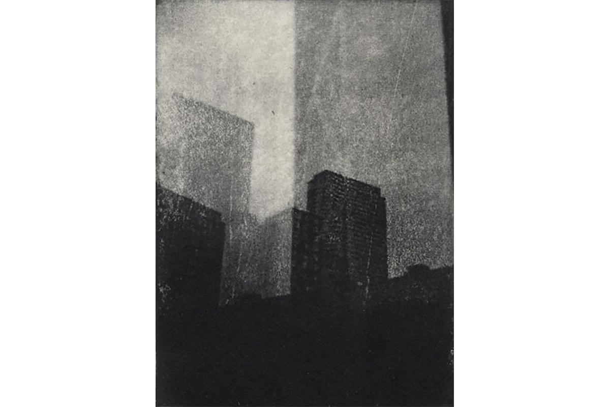 "10th Street  2013. Intaglio print on paper. - 5"" x 7"""