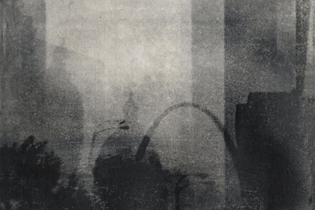 "Arch and Courthouse  2013. Intaglio print on paper. - 5"" x 7"""