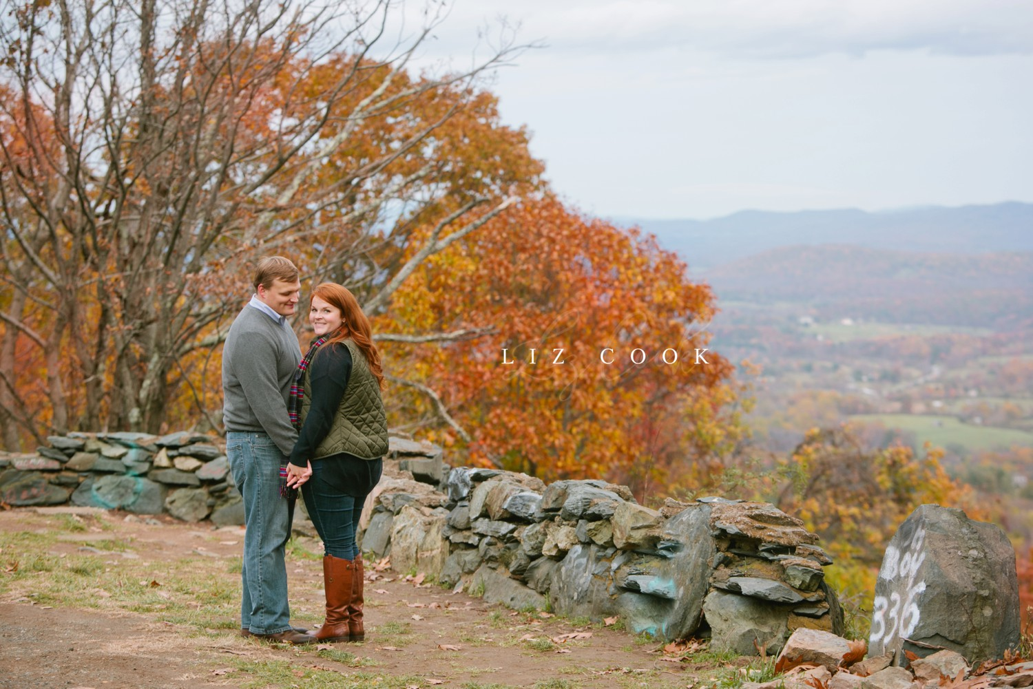 Engagement Portraits on the Blue Ridge Parkway in Central Virginia