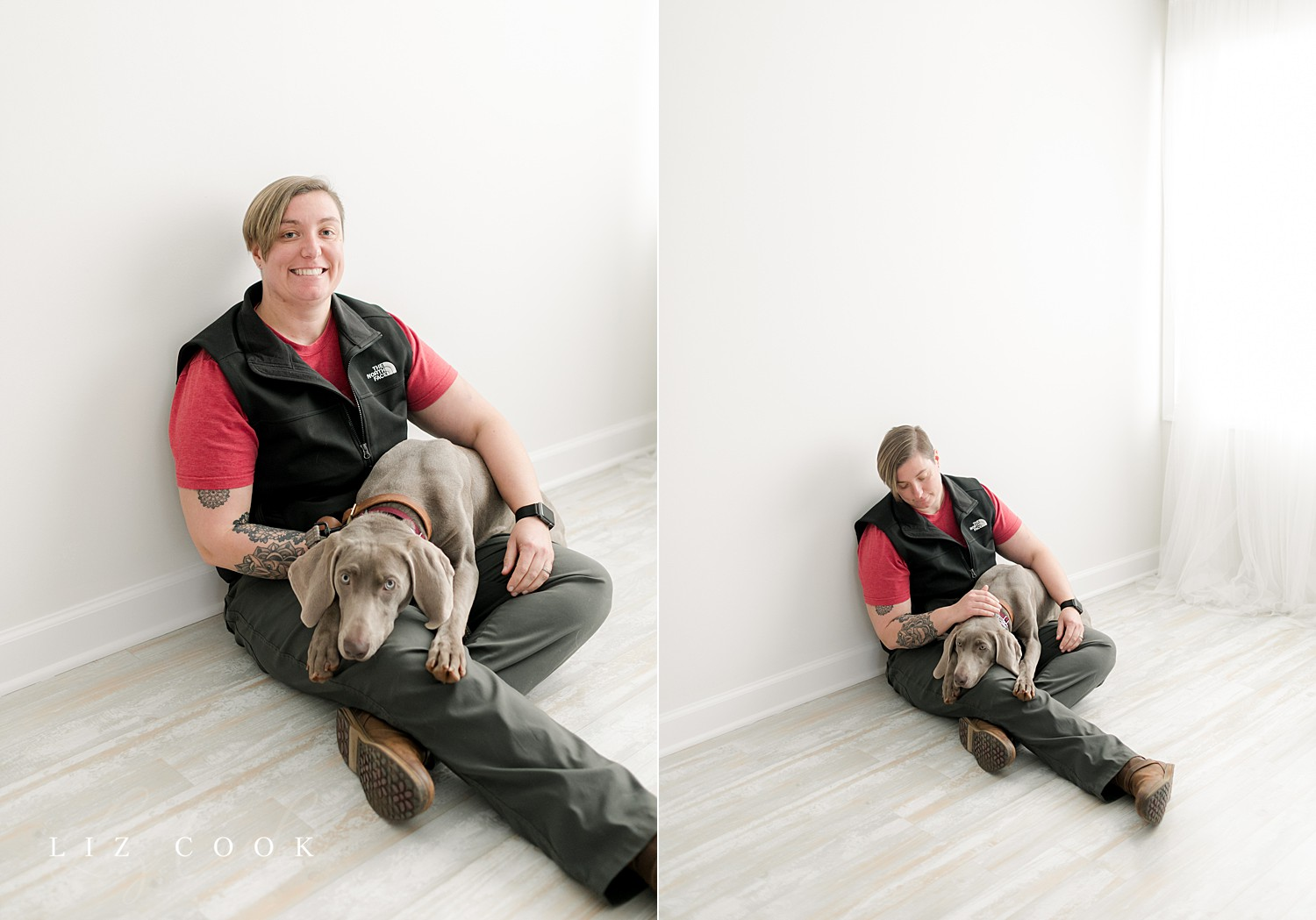 """Charis with her trainer, Jess, at her """"Go Home"""" Session"""