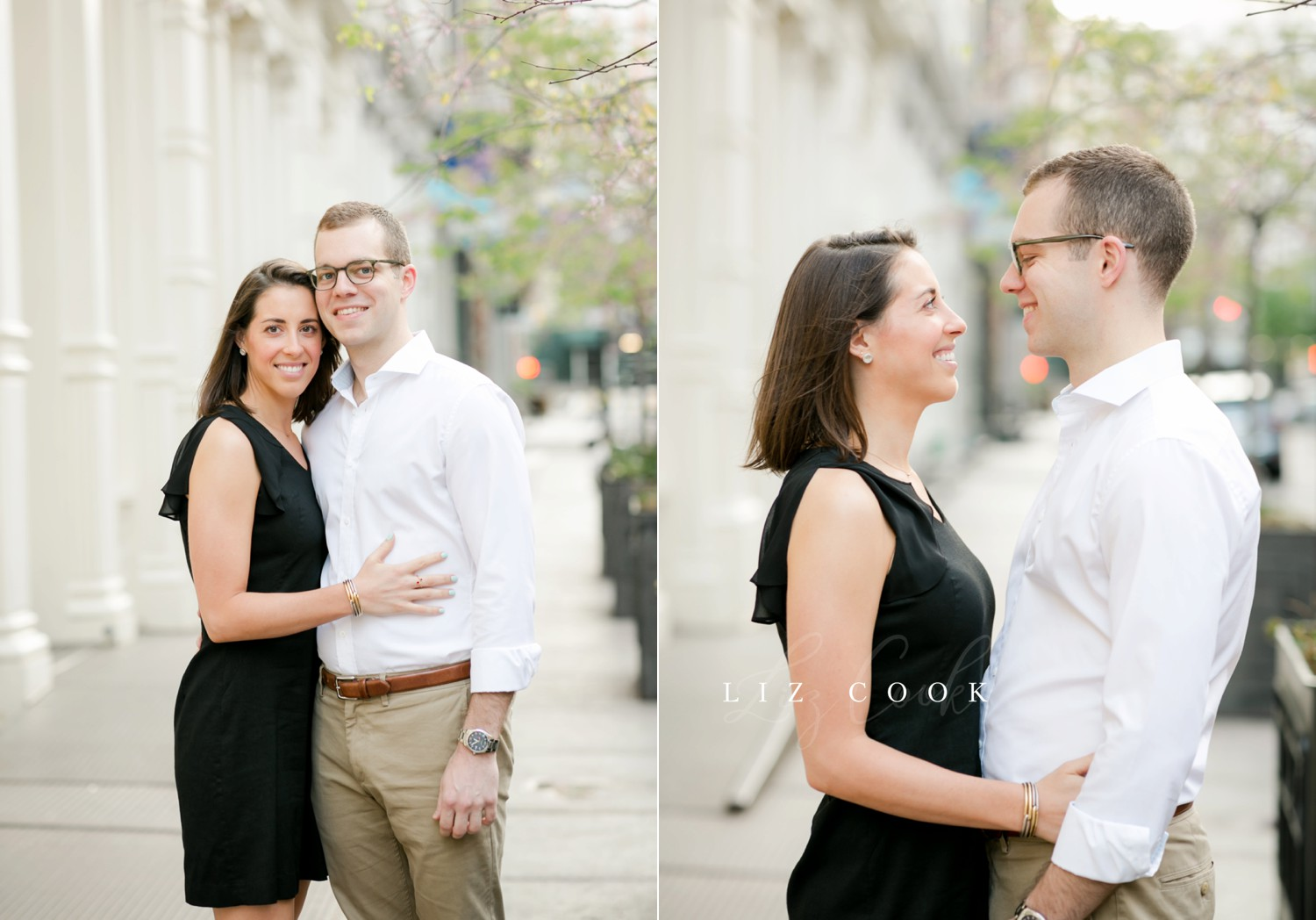 New York City Engagement Pictures at the Old Basilica of St Patrick's Cathedral