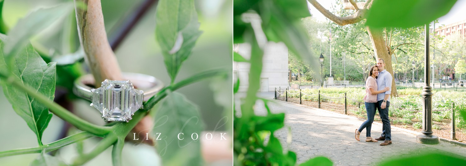 New York City Engagement Pictures at Washington Square Park
