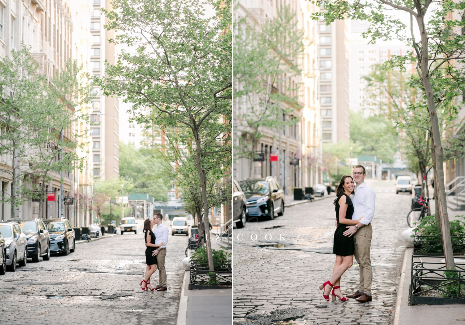 New York City Engagement Pictures in the SoHo Area