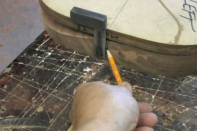 Don't forget to mark the body's center so you can see it once the veneer is applied.