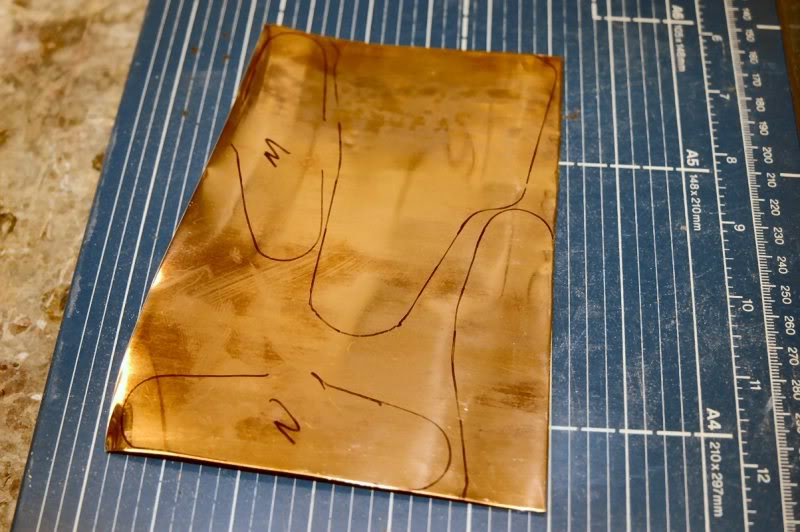 I use the body template to lay out the bottoms of the various routs.