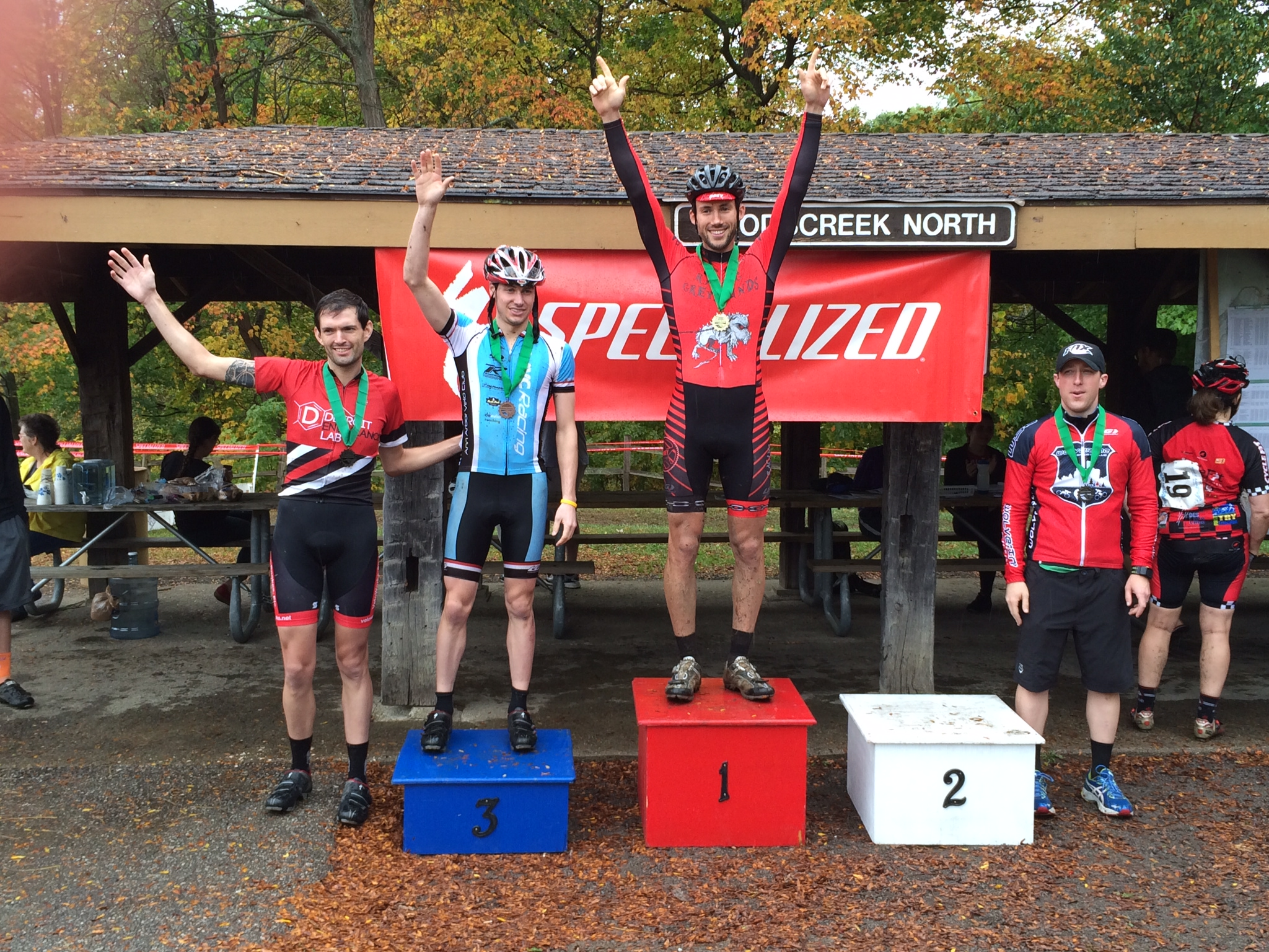 Danny on the podium in his first cat 3 race. Danny, you need to upgrade again.